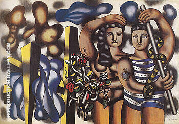 Adam and Eve c1935 By Fernand Leger Replica Paintings on Canvas - Reproduction Gallery