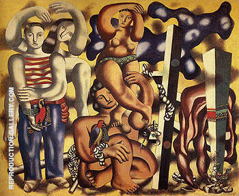 Composition with two Parrots c1935 By Fernand Leger