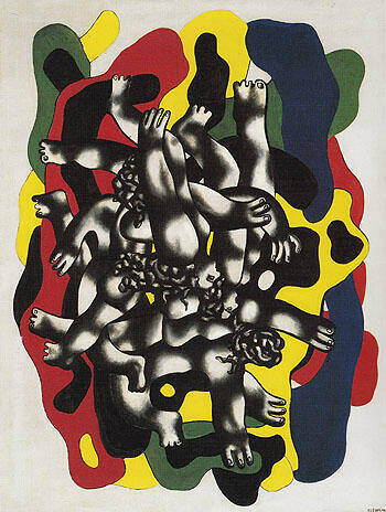 Reproduction of The Divers c1941 by Fernand Leger | Oil Painting Replica On CanvasReproduction Gallery