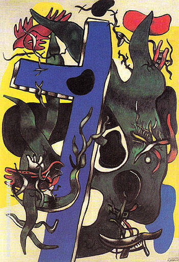 The Forest 1942 By Fernand Leger Replica Paintings on Canvas - Reproduction Gallery