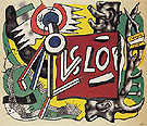 Tree Trunks on Yellow Ground 1945 By Fernand Leger