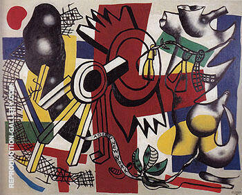 Good Bye New York 1946 By Fernand Leger