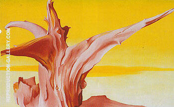 Red Tree Yellow Sky 1952 By Georgia O'Keeffe