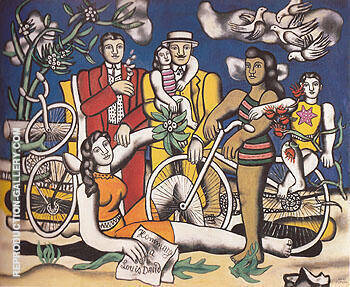 Reproduction of Leisure Homage to David c1948 by Fernand Leger | Oil Painting Replica On CanvasReproduction Gallery