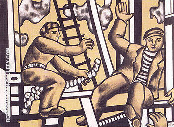 Construction Workers 1951 A By Fernand Leger Replica Paintings on Canvas - Reproduction Gallery