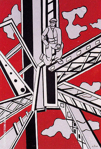 Construction Workers 1951 B By Fernand Leger