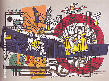 Reproduction of The Great Parade Final State 1954 by Fernand Leger | Oil Painting Replica On CanvasReproduction Gallery