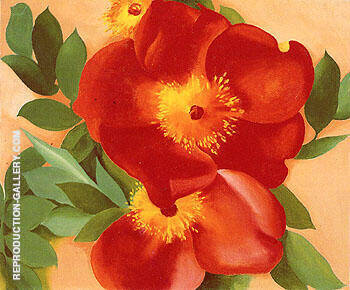 Two Austrian Copper Roses 1957 3 Painting By Georgia O'Keeffe