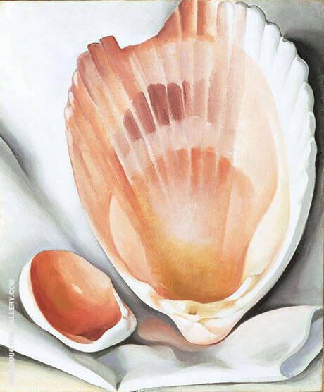 Two Pink Shells 1937 By Georgia O'Keeffe