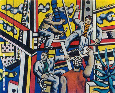 The Construction Workers 1951 By Fernand Leger - Oil Paintings & Art Reproductions - Reproduction Gallery