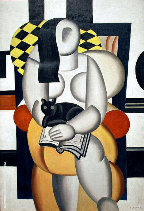 Woman with Cat 1921 By Fernand Leger