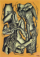 Tree Trunks 1931 By Fernand Leger