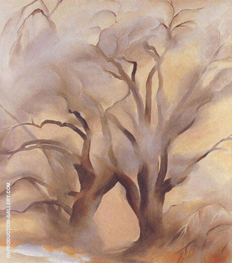 Winter Cottonwoods East 1954 V By Georgia O'Keeffe
