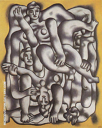 Gray Acrobats c1942 By Fernand Leger Replica Paintings on Canvas - Reproduction Gallery