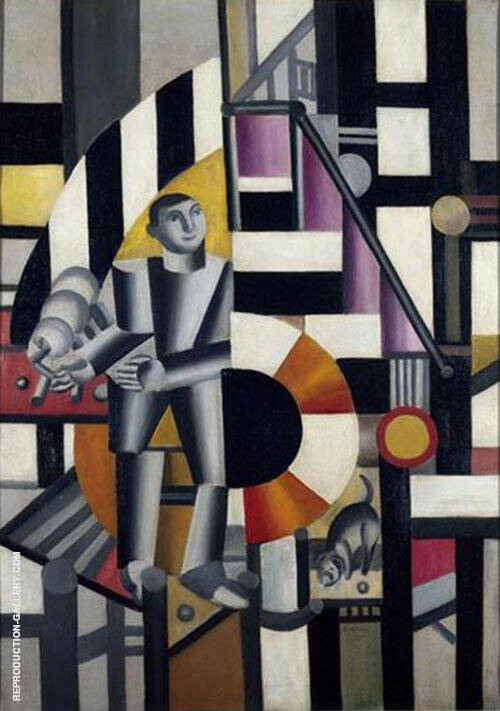 Man with a Pipe c1918 By Fernand Leger