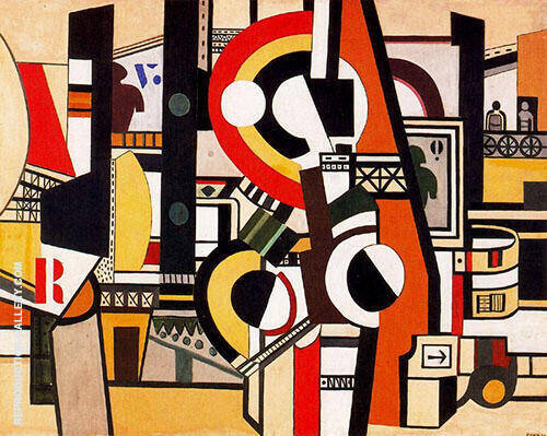 Disks in the City c1920 Painting By Fernand Leger - Reproduction Gallery