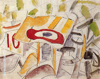 The Insignia Wrecked Airplane 1916 Painting By Fernand Leger