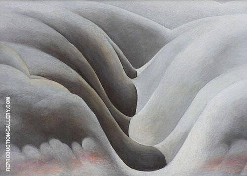 The Black Place 1945 3 By Georgia O'Keeffe Replica Paintings on Canvas - Reproduction Gallery