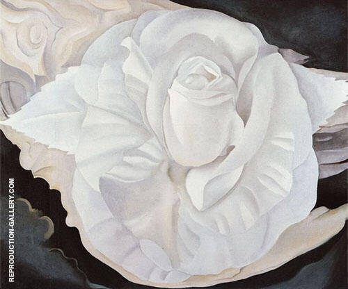 White Rose New Mexico By Georgia O'Keeffe