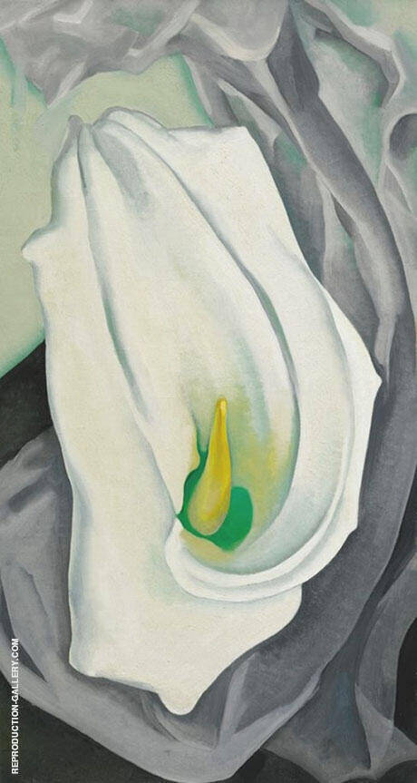 White Calla Lily 1927 By Georgia O'Keeffe Replica Paintings on Canvas - Reproduction Gallery