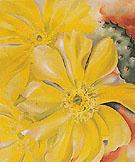 Yellow Cactus 1935 By Georgia O'Keeffe