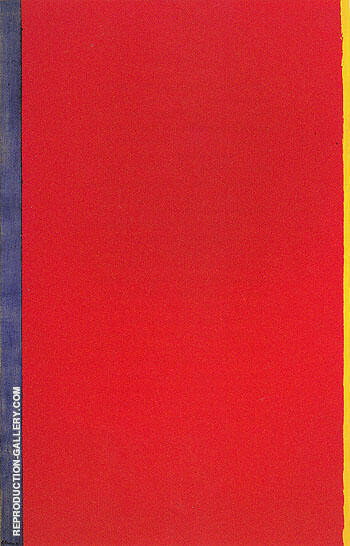 Who's Afraid of Red Yellow and Blue I 1966 Painting By Barnett Newman