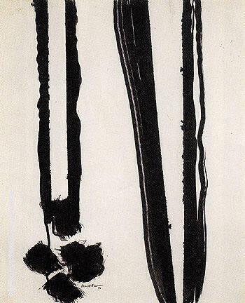 Untitled 1945 18 By Barnett Newman