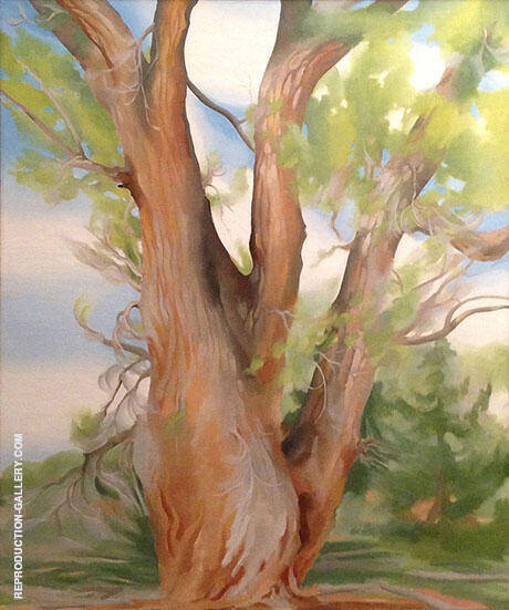 Reproduction of Cottonwood Tree New Mexico 1943 by Georgia O'Keeffe | Oil Painting Replica On CanvasReproduction Gallery