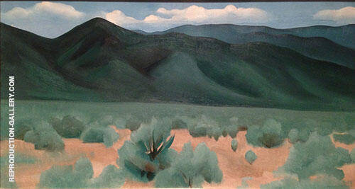 Hills Before Taos 1930 By Georgia O'Keeffe