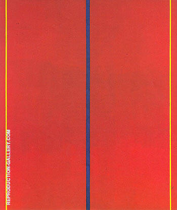 Reproduction of Who's Afraid of Red Yellow and Blue 1967 II by Barnett Newman | Oil Painting Replica On CanvasReproduction Gallery