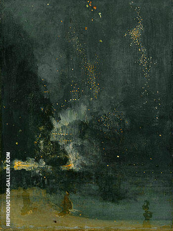 Nocturne in Black and Gold the Falling Rocket By James McNeill Whistler