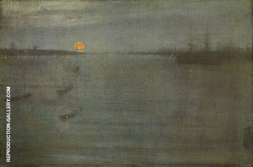 Reproduction of Nocturne Blue and Gold Southampton Water 1872 by James McNeill Whistler | Oil Painting Replica On CanvasReproduction Gallery