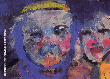 Strange Couple By Emil Nolde Replica Paintings on Canvas - Reproduction Gallery