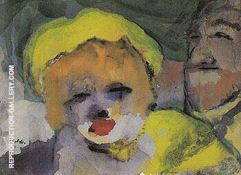 Blonde Girl and Man Painting By Emil Nolde - Reproduction Gallery