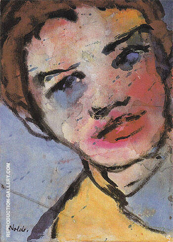 Large Head By Emil Nolde - Oil Paintings & Art Reproductions - Reproduction Gallery