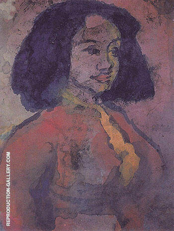 Spanish Woman By Emil Nolde
