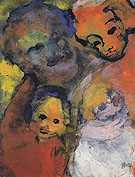 Family with Two Children By Emil Nolde