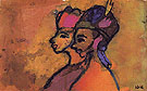 Remote Girls By Emil Nolde