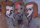 Three Heads By Emil Nolde
