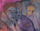 Couple and Bearded Older Man By Emil Nolde