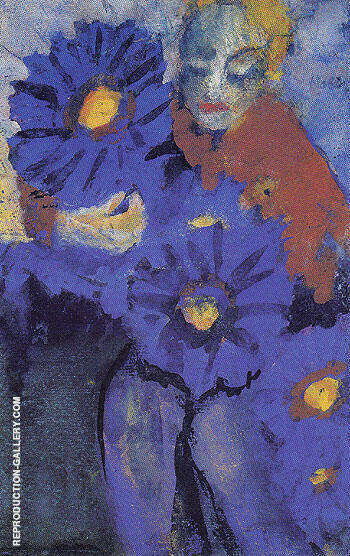 Flower Lady Painting By Emil Nolde - Reproduction Gallery