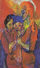 Mother with Two Children By Emil Nolde