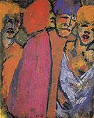 Encounter Four Figures By Emil Nolde