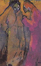 Two Women Brown and Red By Emil Nolde