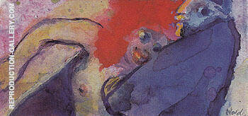 Reproduction of Old Man and Nude Girl by Emil Nolde | Oil Painting Replica On CanvasReproduction Gallery