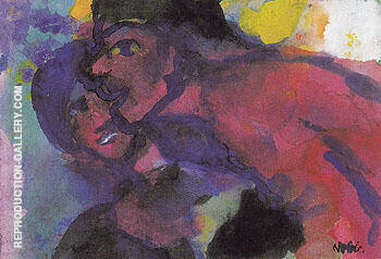 Red Man and Woman By Emil Nolde Replica Paintings on Canvas - Reproduction Gallery