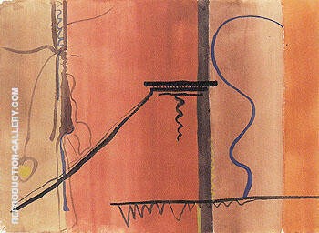 Untitled 1945 10 By Barnett Newman