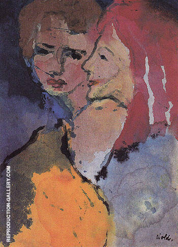 Two Ladies By Emil Nolde - Oil Paintings & Art Reproductions - Reproduction Gallery