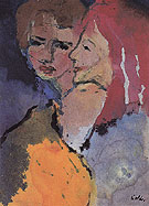 Two Ladies By Emil Nolde