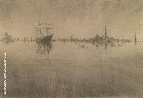 Nocturne c1880 Painting By James McNeill Whistler - Reproduction Gallery